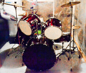 INTEX COMPLETE RED DRUM KIT / DRUMSET BUNDLE ALL INCLUSIVE