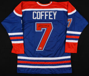 Autographed Paul Coffey Oilers Jersey with Becket COA