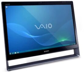 "Sony Vaio PCV-A1112M 24"" All in one PC Core 2 Duo 2.93GHz 1TB 4GB DVDRW Win 7"
