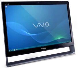 "Sony Vaio PCV-A1112M 24"" All in one PC Core 2 Duo 2.93GHz 1TB 4GB DVDRW Win 7"