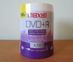 [NEW] Maxell DVD+R 4.7GB 16x, 100 pack spindle