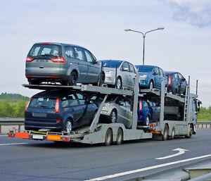 Transport de machineries lourdes, véhicules de tous genres