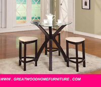 BRAND NEW 4 PIECE PUB TABLE SET...$299 ONLY