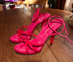 a036c31888d BRAND NEW PLEASER- RED SANDALS HIGH HEELS- 7