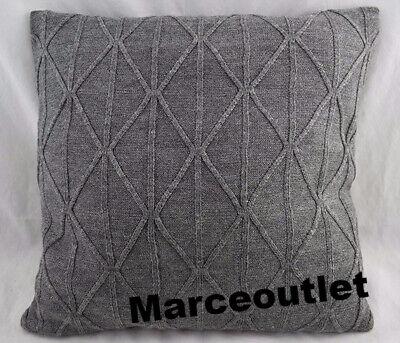 "DKNY City Pleat Knit 18"" X 18"" TWO Decorative Pillows Gray"