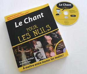 Livre  - LE CHANT POUR LES NULS avec CD