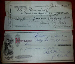 c1888 Antique Cheque Lot Cheques Paper vintage old retro Kingston Kingston Area image 1