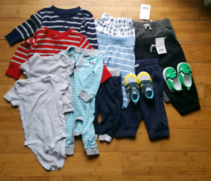 3-6 months clothing lot - many new items