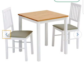 Brand new two tone wood dining set