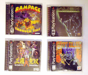 Fighting, shooting, survival horror, & action games for PS1!