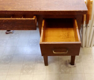 Antique Teachers Desk.. Solid wood