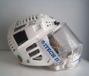 Casque de Hockey Vintage Cooper XL7  blanc