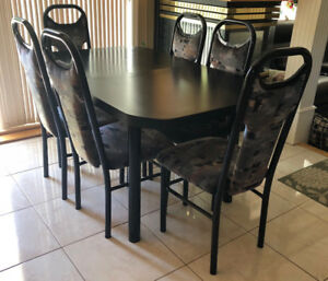 Kitchen Table with Six Matching Chairs