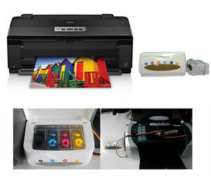 Epson Artisan 1430 Inkjet Printer With the Empty CISS