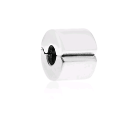 PANDORA Genuine Sterling Silver Plain Bead Spacer Clip. Authentic 925