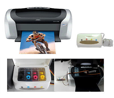 Epson C88+ Printer With the Empty CISS Continuous Ink Supply System