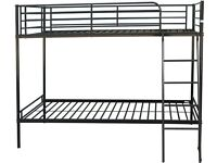 BLACK/SILVER 3 Ft Metal Bunk Bed BRANDNEW in the Box Pay cash on Delivery Option Fast Delivery