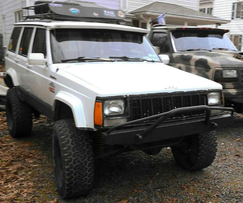 1984 2001 jeep cherokee xj comanche front bumper with prerunner bars 6. Cars Review. Best American Auto & Cars Review