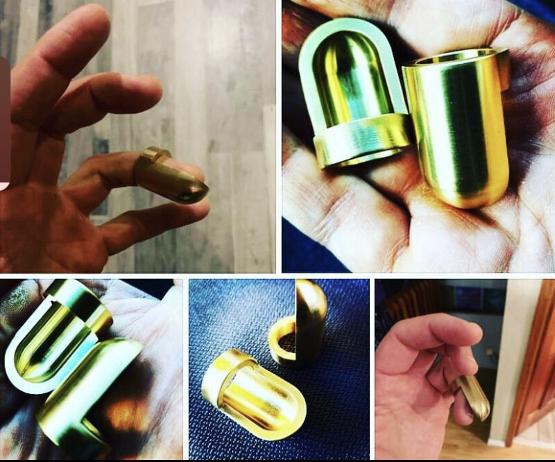 The Bullet Slide - Brass Fingertip Guitar Slide  -  Reversible - SUPER FAST!!!