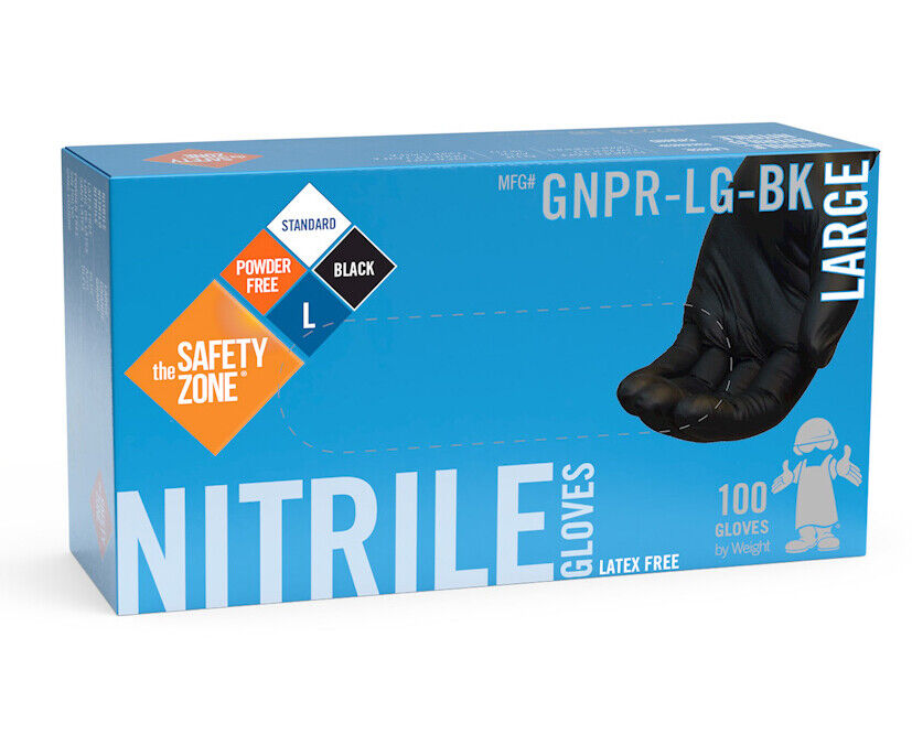 nitrile gloves powder free black nitrile gloves