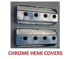 331 354 392 Hemi Valve Covers Chrome Firepower New In Box 7 Day Sale