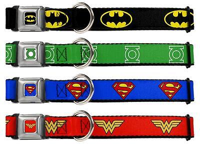Dog Collar Seat Belt DC Comics Batman Superman Wonder Woman 1.0""