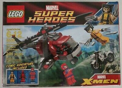 LEGO SET # 6866 MARVEL WOLVERINE CHOPPER SHOWDOWN DEADPOOL MAGNETO 100% COMPLETE