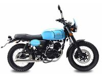 NEW AJS TEMPEST 125CC SCRAMBLER FOR £11.12 PER WEEK