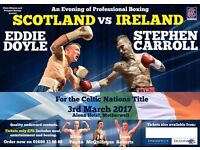 5 Professional Boxing Tickets 03/03/17 @ The Alona Hotel