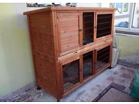 Rose Cottage Guinea Pig Hut. Cost £160 from Pets at Home. Always kept indoors, extras included.