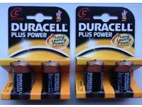 Duracell MN1400 Type C Alkaline Batteries x4
