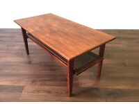 Retro Teak Coffee Table Vintage Mid Century Modern Danish Style Scandinavian Side Occasional