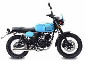 NEW AJS TEMPEST 125CC CLASSIC SCRAMBLER,OWN THIS BIKE FOR £11.12 PER WEEK