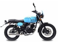 NEW AJS TEMPEST 125CC CLASSIC SCRAMBLER,OWN FOR £11.12 PER WEEK