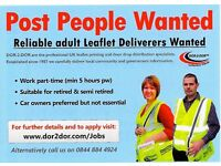 Get Paid to Keep Fit - Part time leaflet distributors wanted for friendly firm