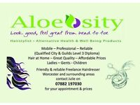 Mobile hairdresser for Worcester and surrounding areas