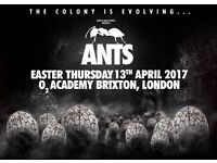 ANTS @ BRIXTON ACADEMY GROOVE ARMADA AND OTHERS £30 STALLS STANDING