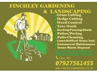 Finchley Gardening and Landscaping -Clearence Turfing Lawn Care Patio Decking Fencing Sheds Jet Wash