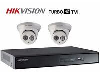2 CAMERA KIT HIKVISION HD-TVI 1080p Full HD KIT, COMPLETE WITH CABLES / READY TO INSTALL