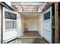 Hackney Creative Space / Netil Market Shop / Shipping Container / East London / London Fields