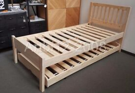 John Lewis Woodstock Raw Pine Trundle Guest Bed