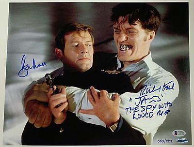 Roger Moore Richard Kiel Signed 11X14 Photo James Bond Beckett Coa  Ed Of 007