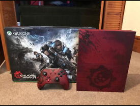 Gears of war 4 xbox one S 2TB crimson red