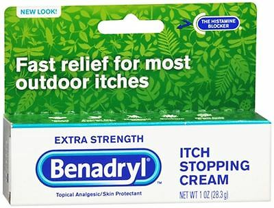 Benadryl Itch Stopping Cream Extra Strength 1 oz (Pack of (Benadryl Itch Stopping Cream)