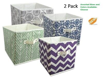 Storage Cube 2 PACK Fabric Basket Bin Container Shelves Cubby Drawers  Organizer - Storage Cube Baskets