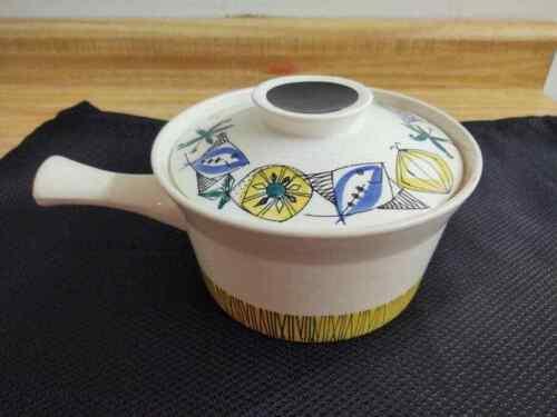 MCM Stavangerflint Norway Flamingo lidded ceramic pot