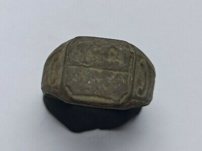 ANCIENT EARLY MEDIEVAL ORNAMENTED EUROPEAN BRONZE RING 800-1000 AD