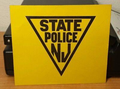 "Vintage NJ State Police NEW JERSEY STATE POLICE 3.75"" × 4.25"" FASSON STICKER"