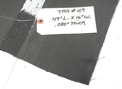 Unknown Brand Conveyor Belt 49 Length 16 Width .080 Depth Black Rubber