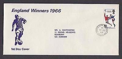 1966 England Winners unusual illustration FDC Station Town WINgate CDS